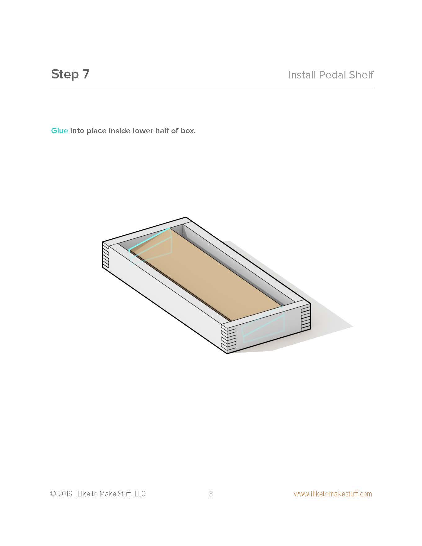 Small Pedalboard - Digital Plan - I Like to Make Stuff