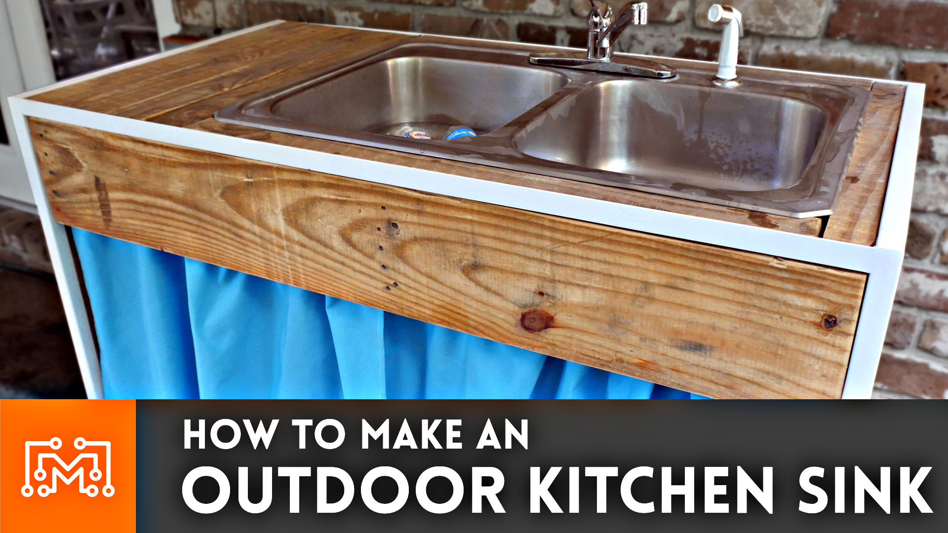 Charmant Outdoor Kitchen Sink // Woodworking, Metalworking, Sewing How To