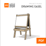 How to make diy wooden drawing easel plans