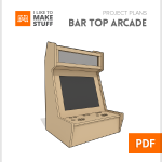 how to make diy bar top arcade cabinet diy plans
