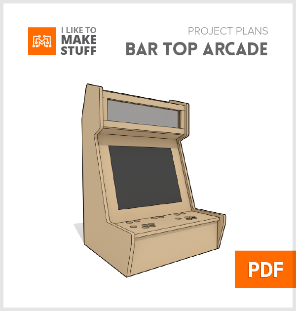 how to make diy bar top arcade cabinet diy plans