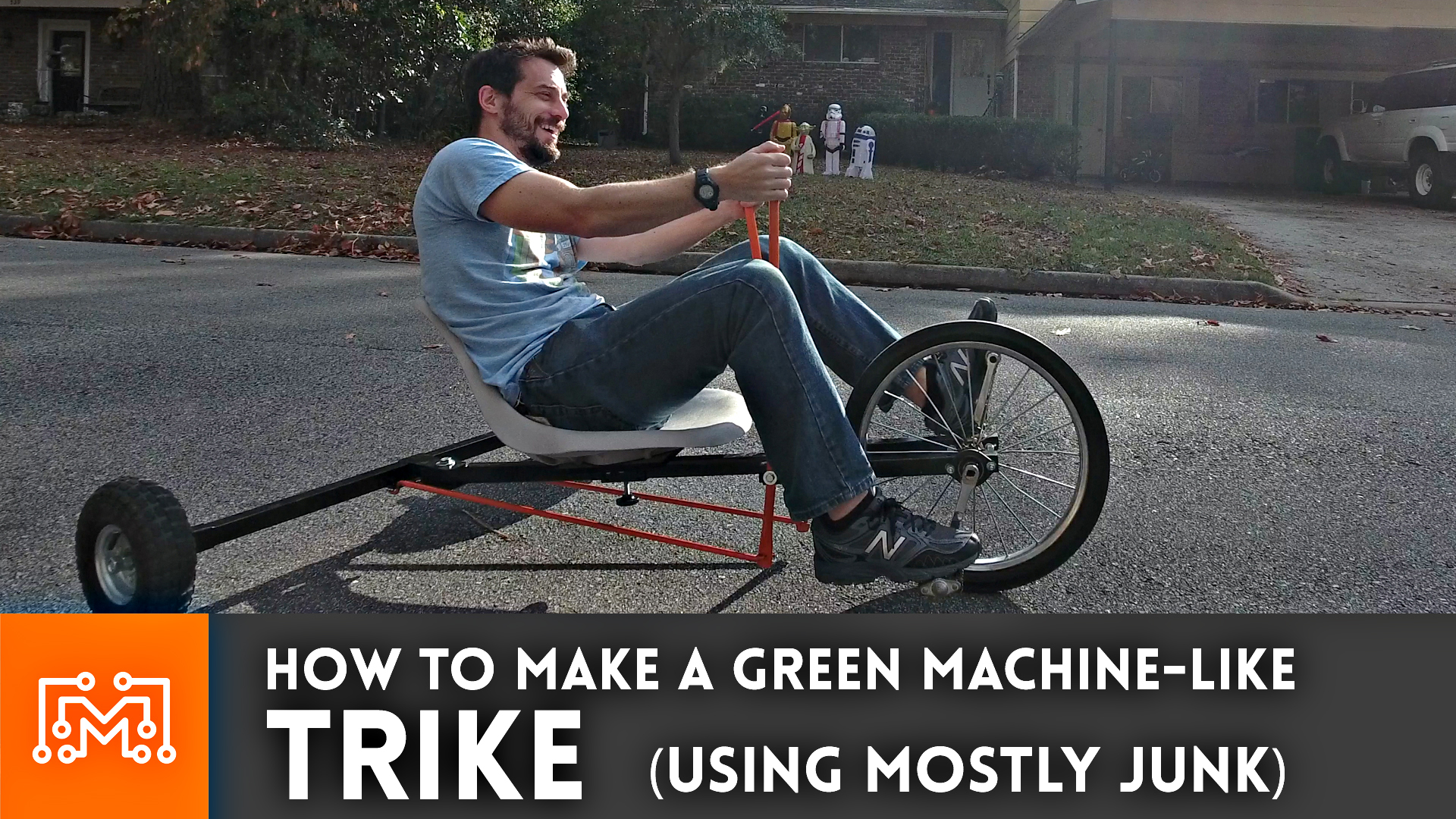 How to make a trike (Green Machine) from junk – Part 1