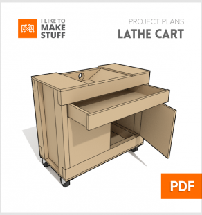 How to make diy rolling lathe cart plans