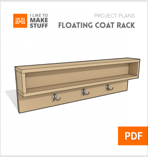 How to make floating coat rack diy plans