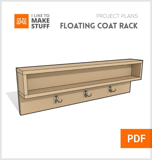 How to make floating coat rack diy plans