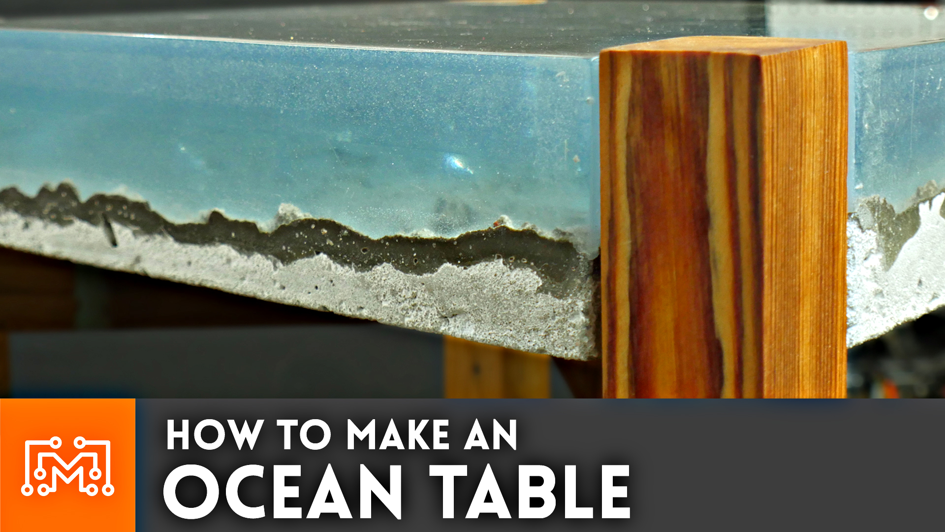 How to make an ocean table i like to make stuff for How to make an end table out of books