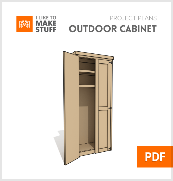 How to make outdoor wooden cabinet storage diy plans