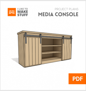 How to make diy barn door media console pallet plans
