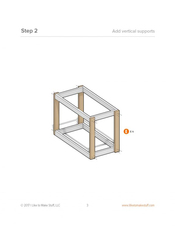 how to make simply modular work table bench plans