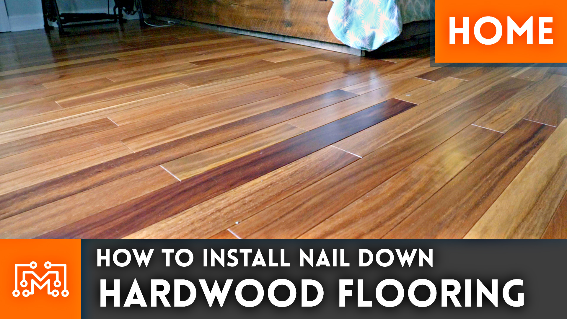 how to install nail down hardwood flooring // home renovation - i