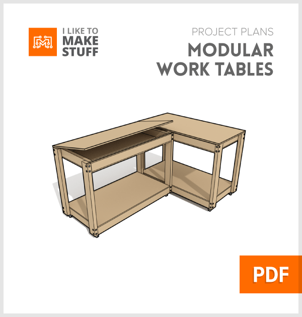 How To Make Modular Work Bench Table Plans