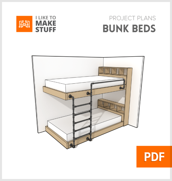 how to make diy industrial bunkbeds with iron black pipe plans