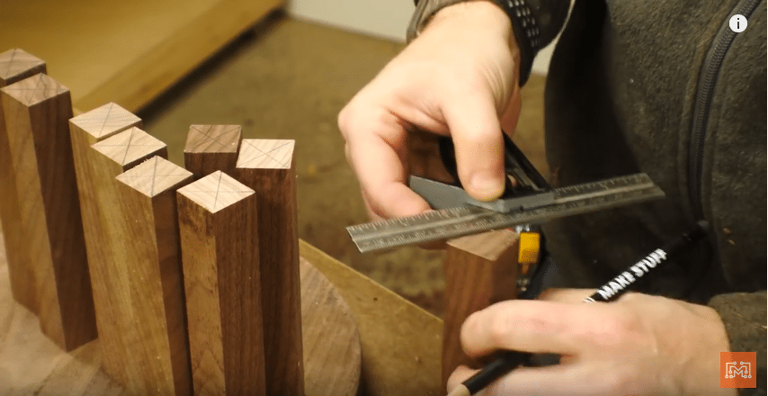 How to Make a Walnut and Brass Coat Rack - Break Down Material