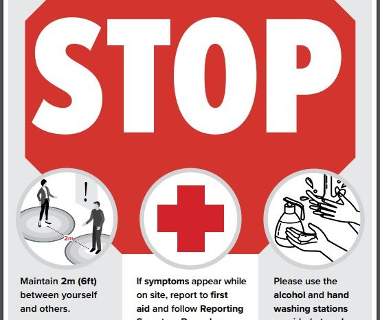 COVID-19 STOP Sign Infographic
