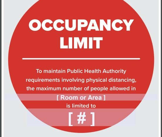 COVID-19 Occupancy Limit Infographic