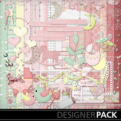 Digital Scrapbooking Kits Sweet Baby Girl Babies Girls