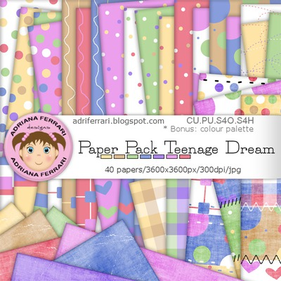Teenagedreampaperpack_preview2