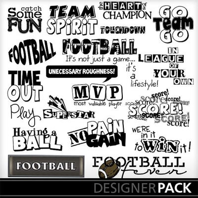 clip art football fun word art word design print shop