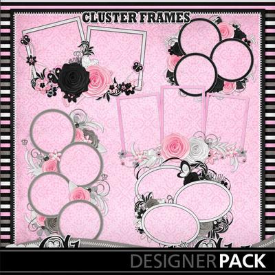Glamour-n-glitz--cluster-frames