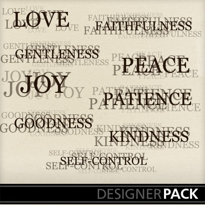Clip Art | Fruit of the Spirit Word Stamps | Everyday, Word Design ...