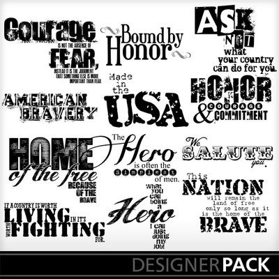American_hero_wordart