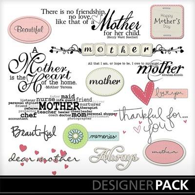 Dear_mother_word_art