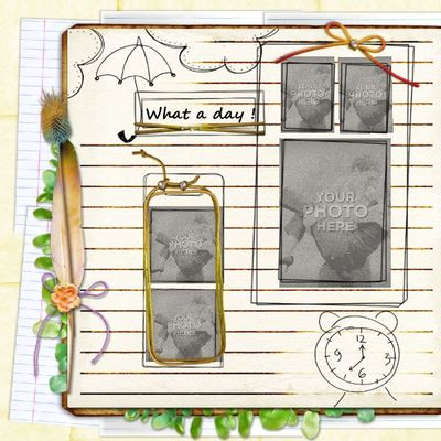 Clip Art | My Diary Template 8-(aniaw) | Boys, Everyday, Family, Kid