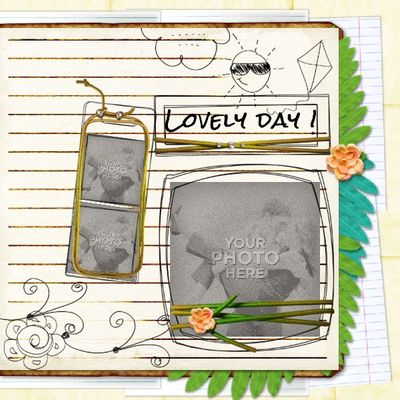 Digital Scrapbooking Kits | My Diary Template 8-(aniaw
