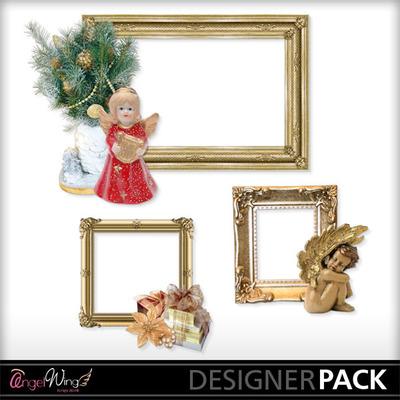 Digital Scrapbooking Kits | Christmas Angel Frames-(AWS) | Holidays ...