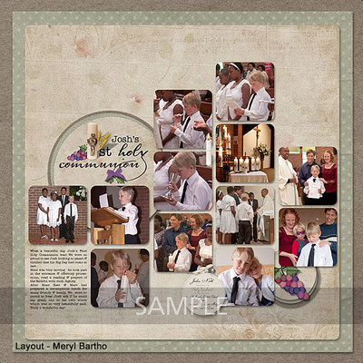 Digital Scrapbooking Kits First Holy Communion Combo Mbartho
