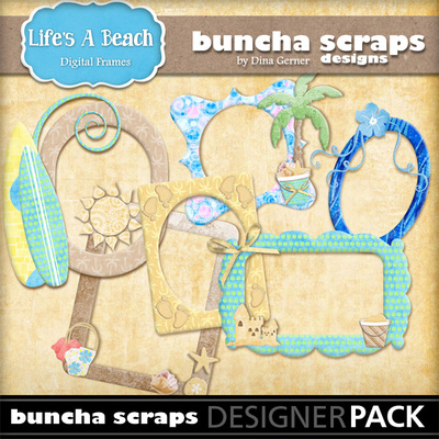 Lifesabeachartframespack