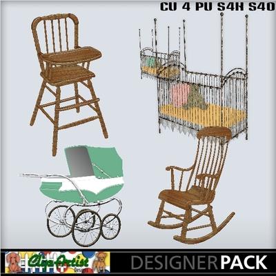 Digital Scrapbooking Kits Beary Loved Baby Furniture Jau
