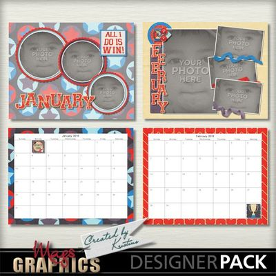 Digital Scrapbooking Kits 2016 Sports Calendar Template Magsgfx