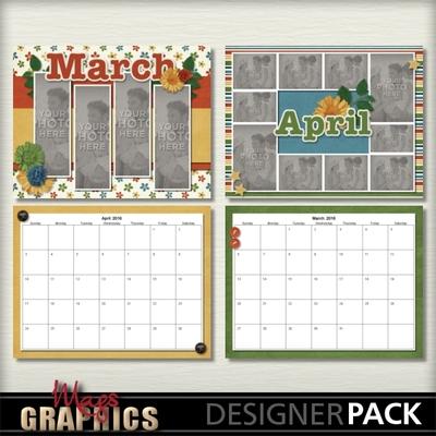 Digital Scrapbooking Kits 2016 Generic Calendar Template Magsgfx