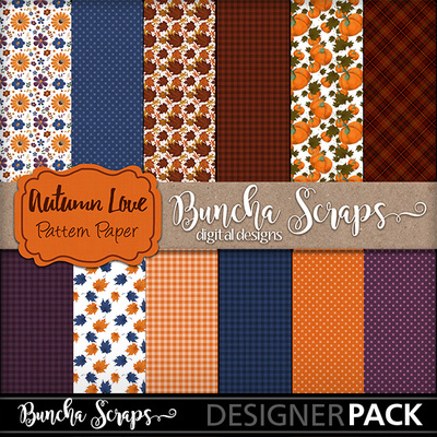 Autumnlovepatternpaper