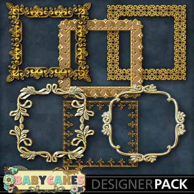 Square_gold_frame_set