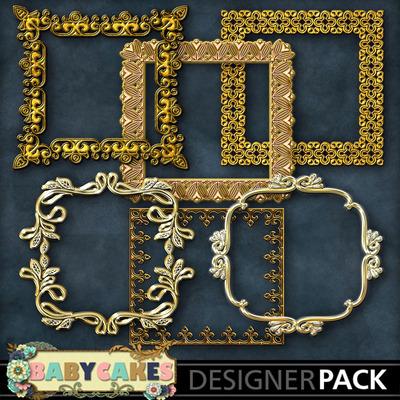 Square_gold_frame_set