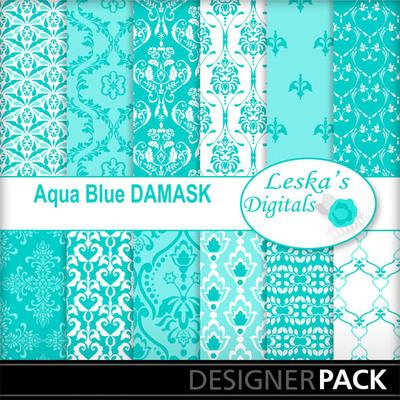 Aqua_blue_damask