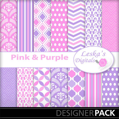 Pinkandpurledigitalpaper