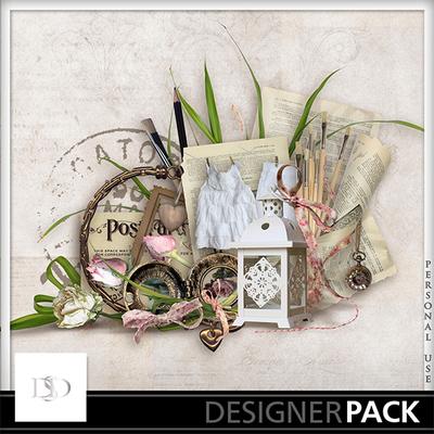 Digital Scrapbooking Kits Lettre A Elise Kit Doudou Decorative