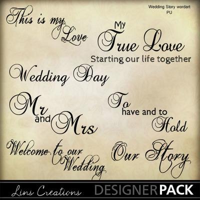 Weddingstorywordart