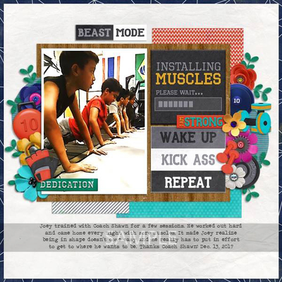 Digital Scrapbooking Kits | Work it Out Gym Time Kit-(monette