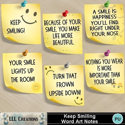 Keep_smiling_word_art_notes-01