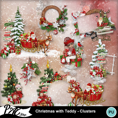 Patsscrap_christmas_with_teddy_pv_clusters