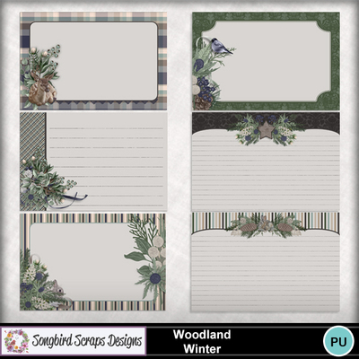 Woodland_winter_journal_cards