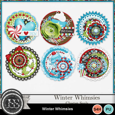 Winter_whimsies_cluster_seals