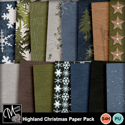 Highland_christmas_paper_pack