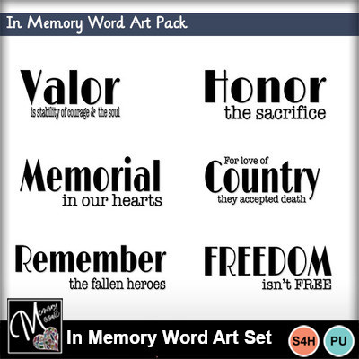 In_memory_word_art_set