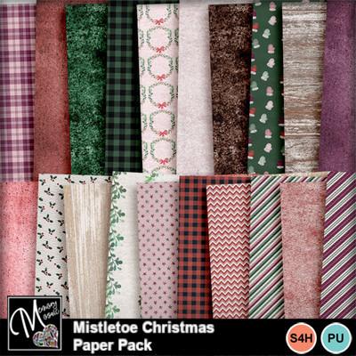 Mistletoe_christmas_paper_pack