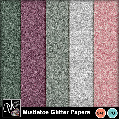 Mistletoe_gliiter_papers